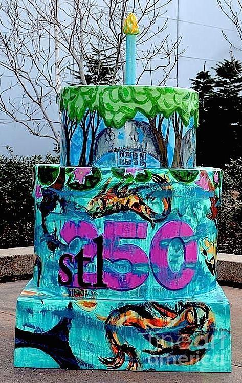 Cake Art Mo : Missouri Botanical Garden Stl250 Birthday Cake Painting by ...