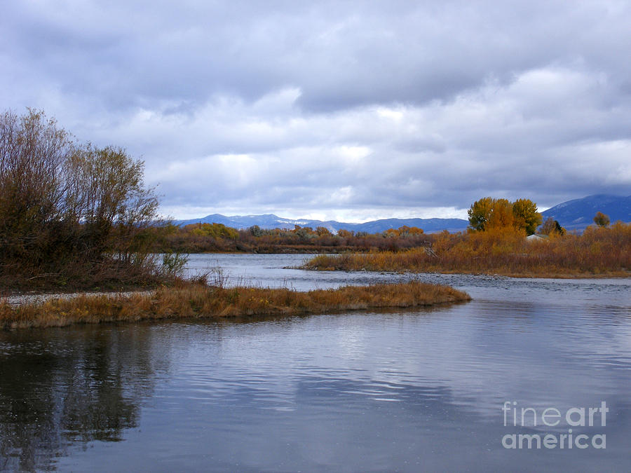 Missouri River Reflections Photograph  - Missouri River Reflections Fine Art Print