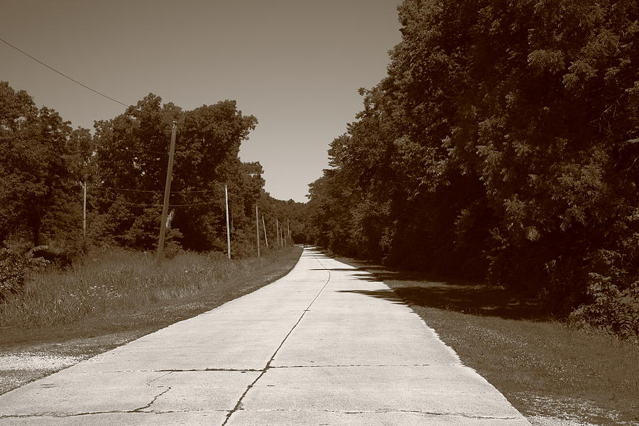 Missouri Route 66 2012 Sepia. Photograph