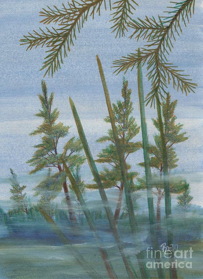 Mist In The Marsh Painting  - Mist In The Marsh Fine Art Print