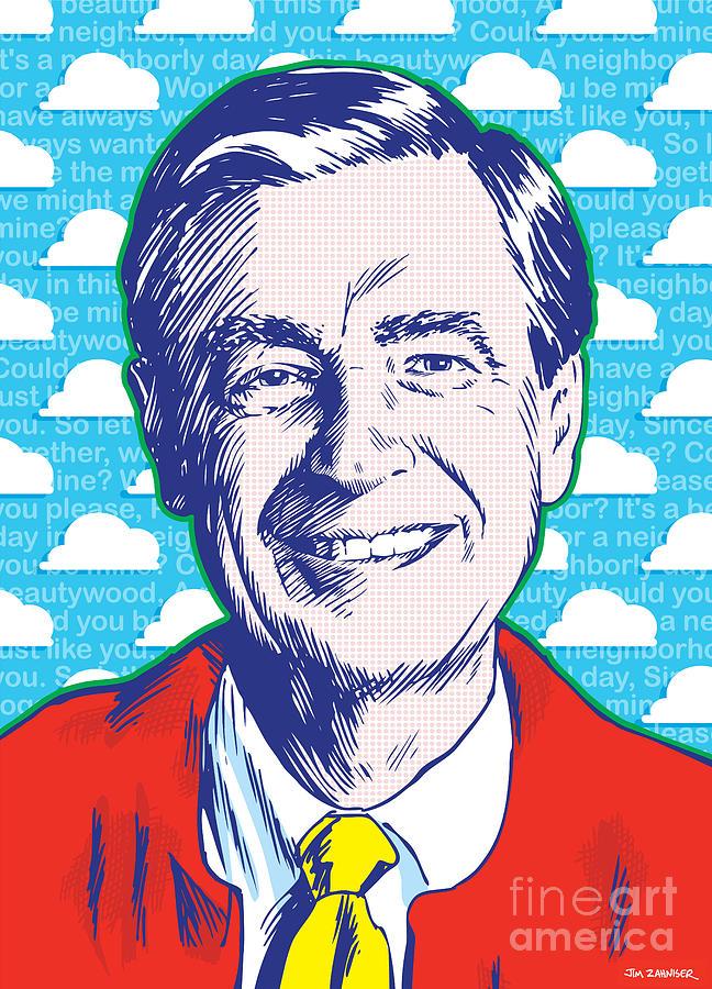 Mister Rogers Pop Art Drawing