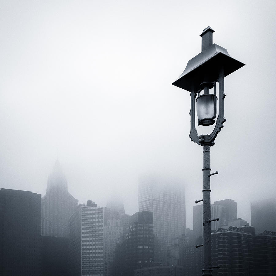 Misty City Photograph  - Misty City Fine Art Print
