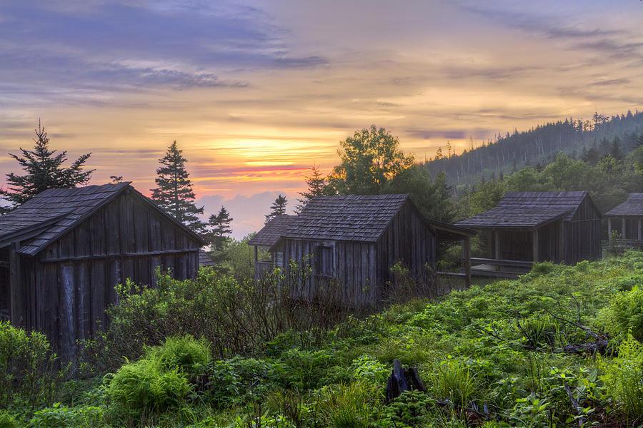 Misty Dawn At Mt Le Conte Photograph