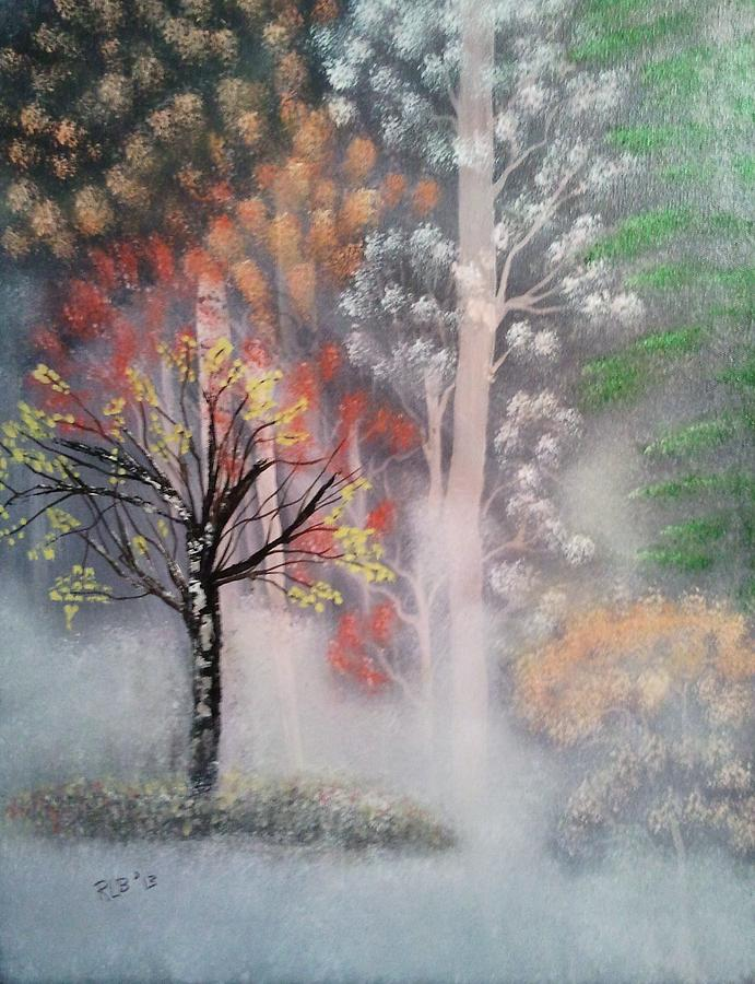 Misty Magic Forest Painting