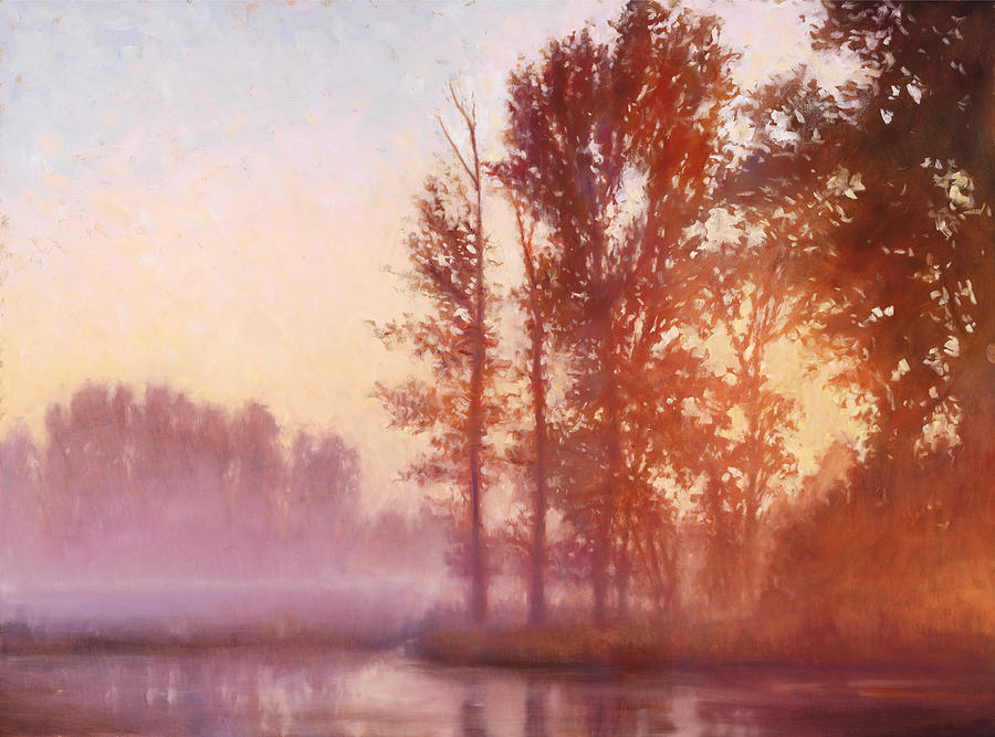 Misty Morning Memory Painting  - Misty Morning Memory Fine Art Print