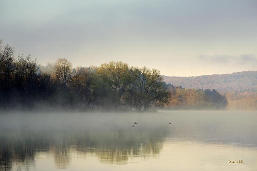 Misty Morning Sunrise Photograph