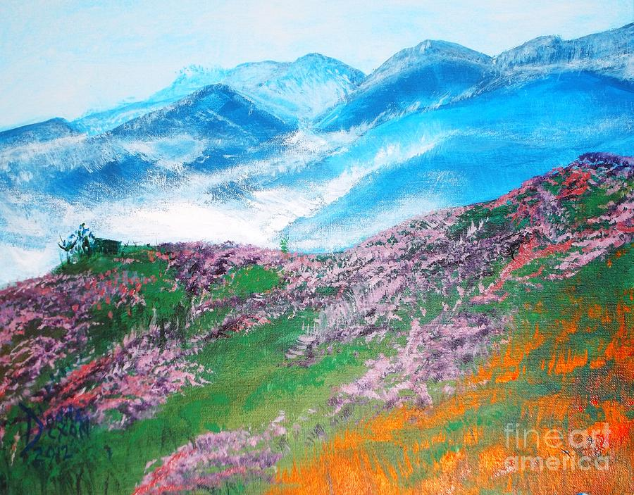 Misty Mountain Hop Painting  - Misty Mountain Hop Fine Art Print