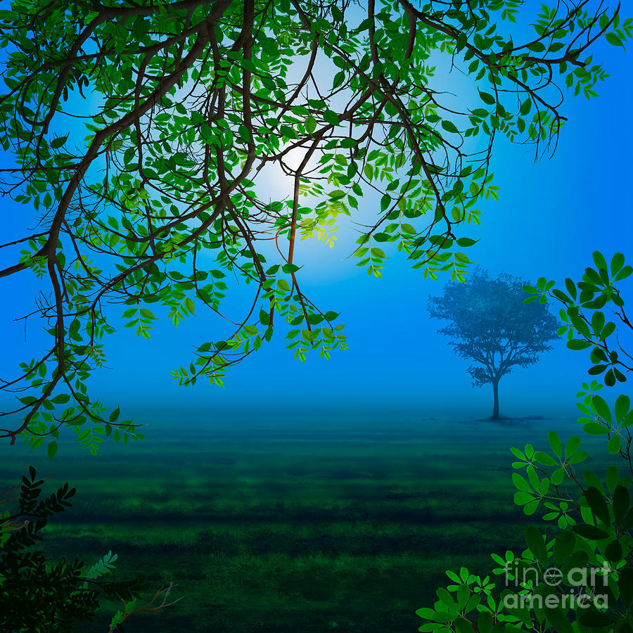 Misty Night Digital Art