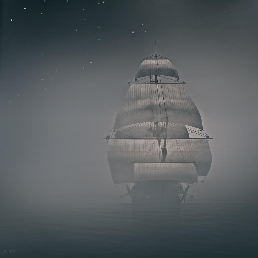Misty Sail Photograph