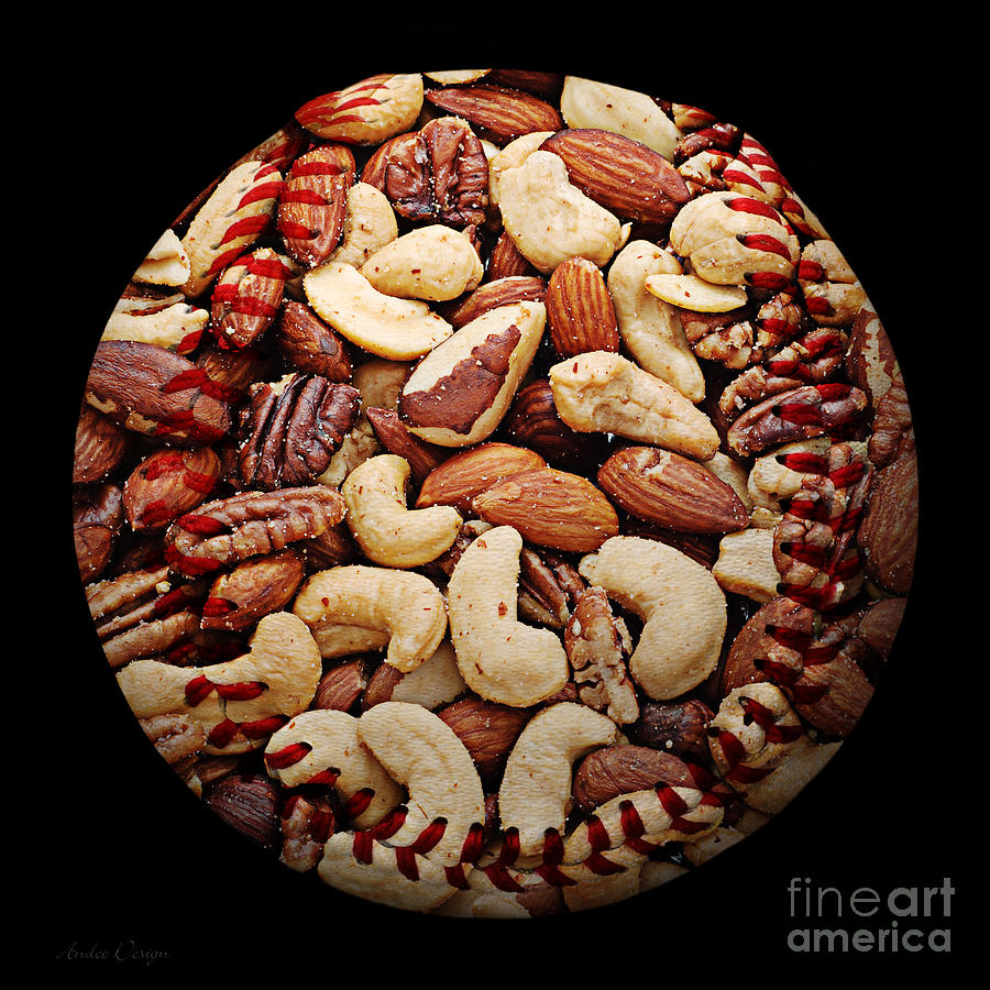 Mixed Nuts Baseball Square Photograph