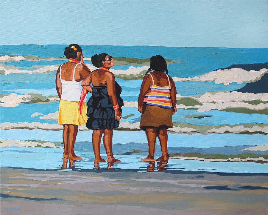 Mocha Shouldered Ladies Painting