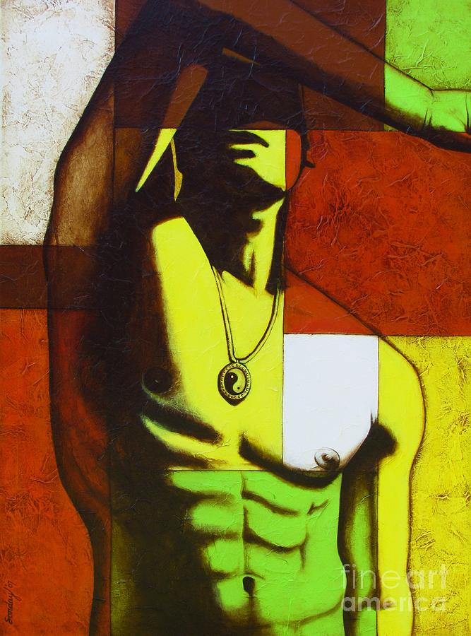 Homoerotic Male Painting - Mod Male by Joseph Sonday