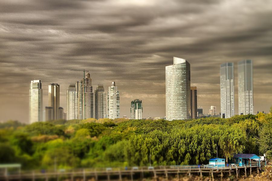Modern Buenos Aires Tilt Shift Photograph