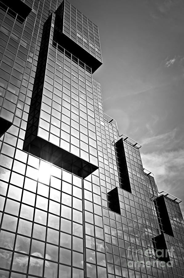 Modern Glass Building Photograph  - Modern Glass Building Fine Art Print
