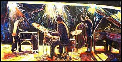 Modern Jazz Quartet Number Two Painting