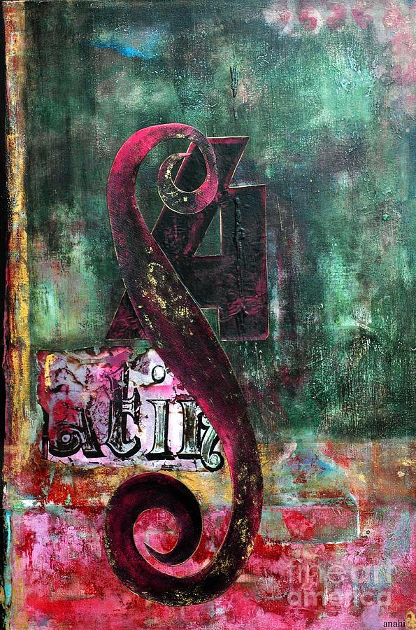 Modern Patina Abstract Painting