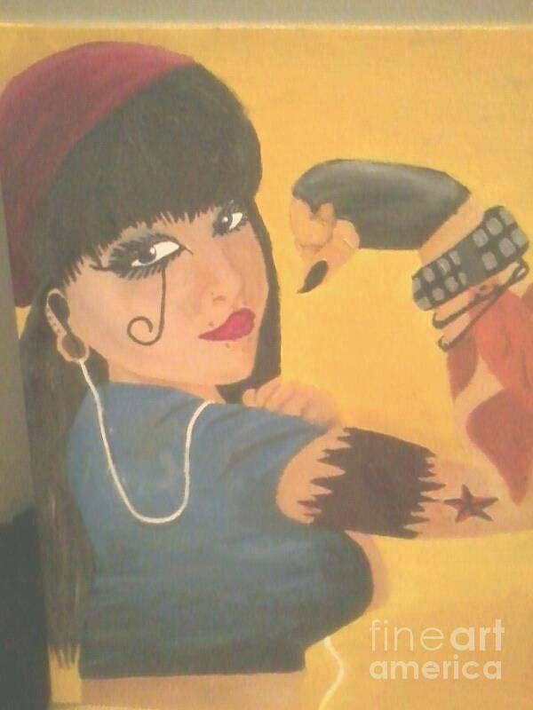 Modern Rosie The Riveter  Painting
