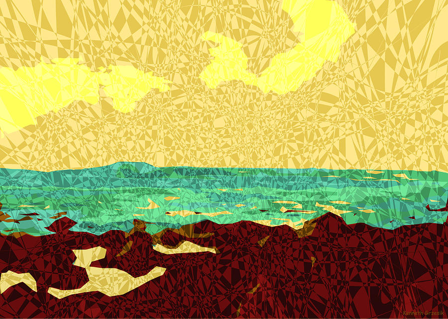 Tropical Interior Design Digital Art - Moku Kapa 9 by Kenneth Grzesik
