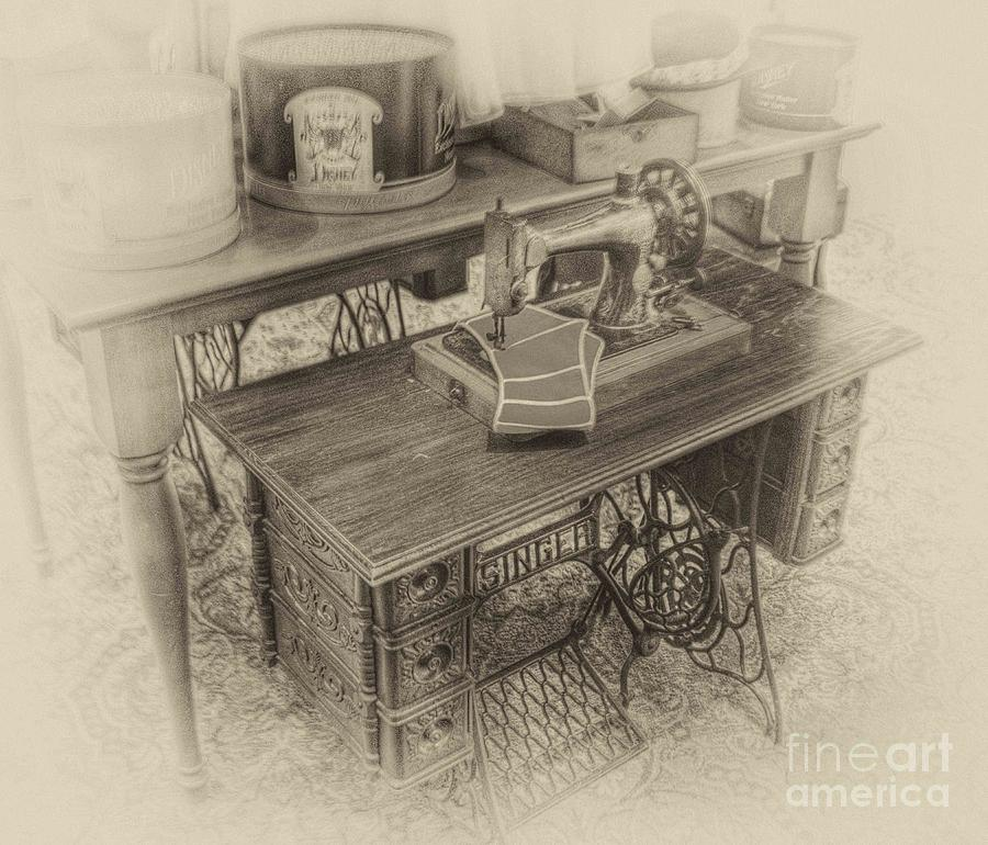 Mommas Sewing Machine Photograph  - Mommas Sewing Machine Fine Art Print