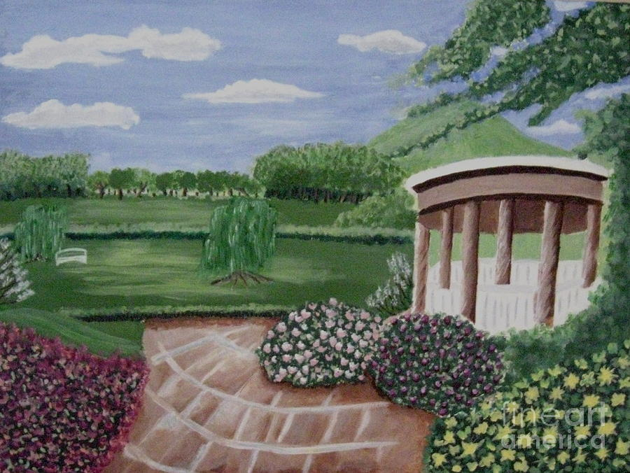 Moms Backyard Painting  - Moms Backyard Fine Art Print
