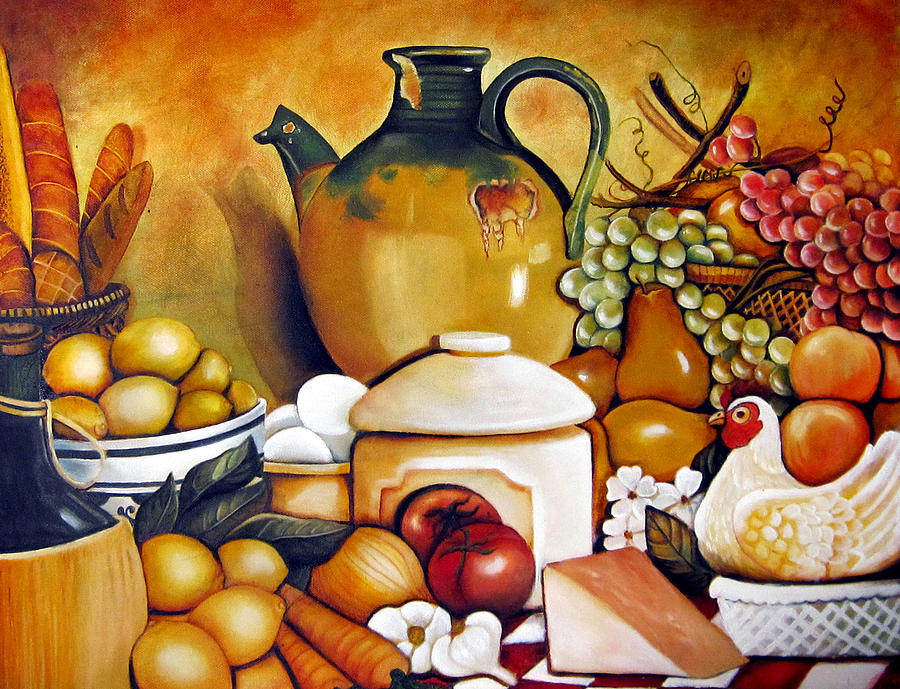 Moms Kitchen Painting  - Moms Kitchen Fine Art Print