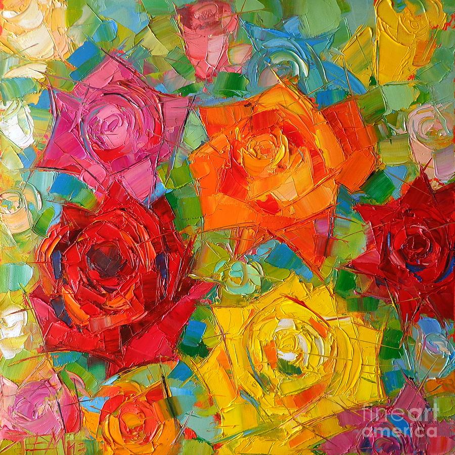 Mon Amour La Rose Painting