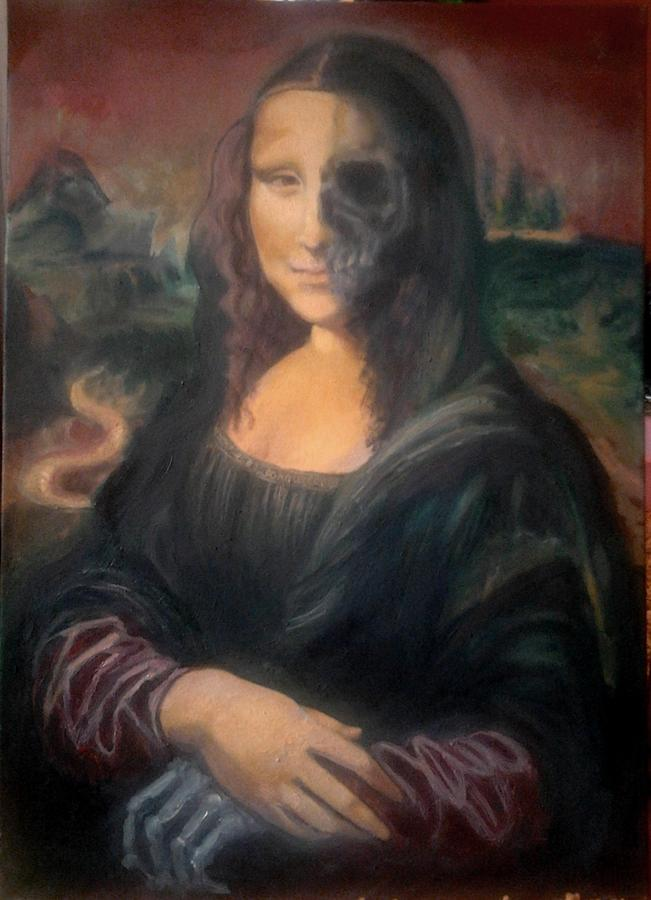 Mona Lisa Life And Death Painting By Teona Toderel