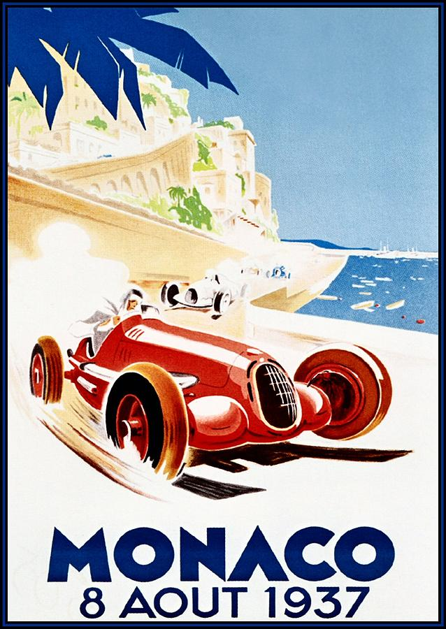 Monaco Grand Prix 1937 Digital Art