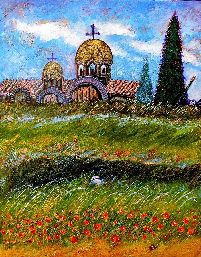 Monastery In Greece Painting