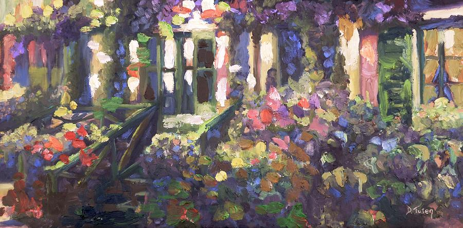 Monets Home In Giverny Painting  - Monets Home In Giverny Fine Art Print