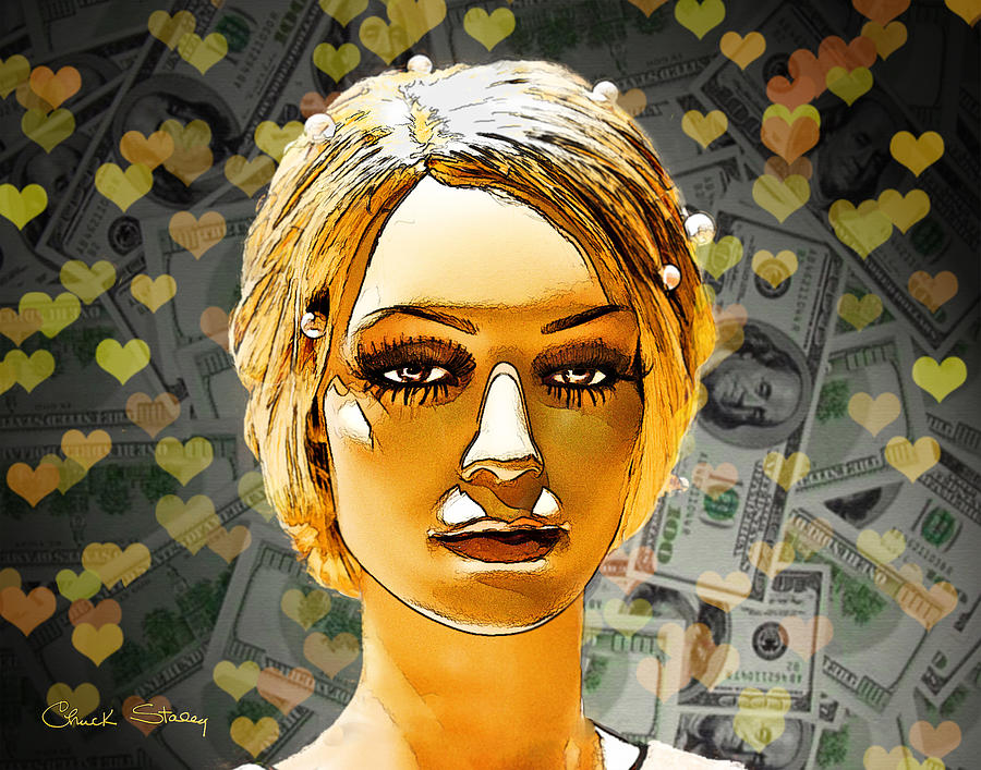 Money Love Mixed Media  - Money Love Fine Art Print