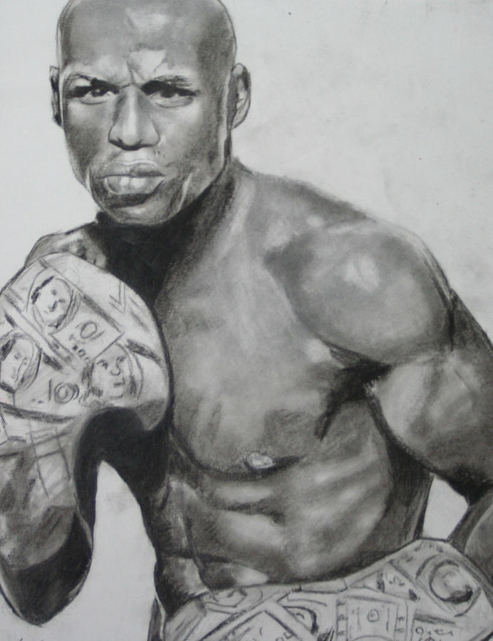 Money Mayweather Drawing  - Money Mayweather Fine Art Print