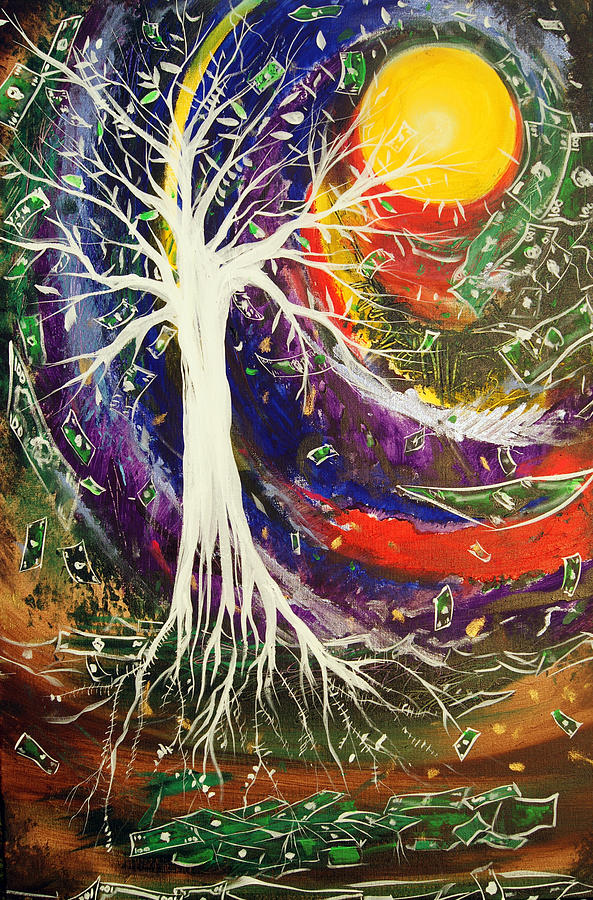 Money Tree Painting - Money Tree by Ottoniel Lima