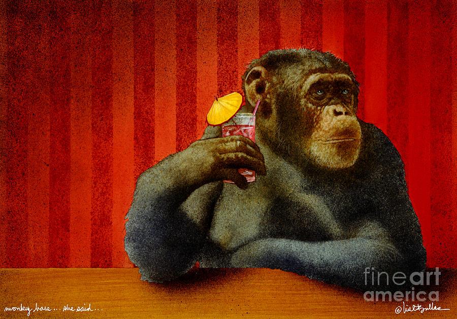 Monkey Bars...she Said... Painting