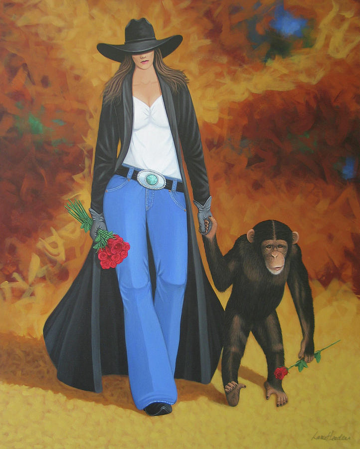 Monkeys Best Friend Painting