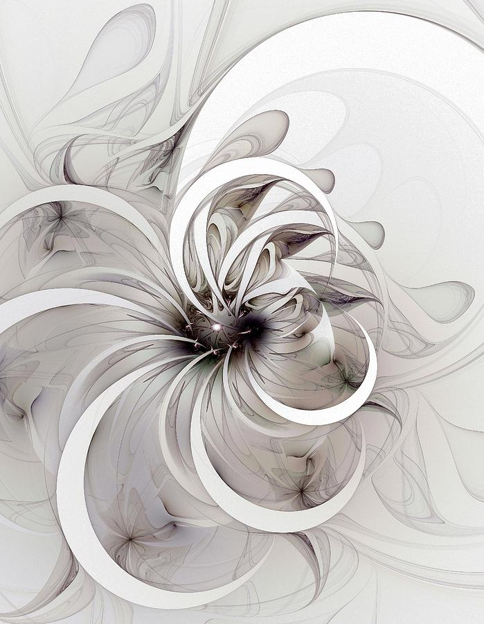 Monochrome Flower Digital Art