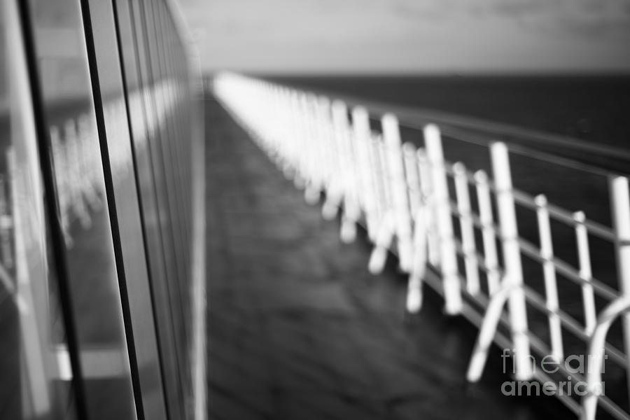 Abstract Photograph - Monochrome Sun Deck by Anne Gilbert