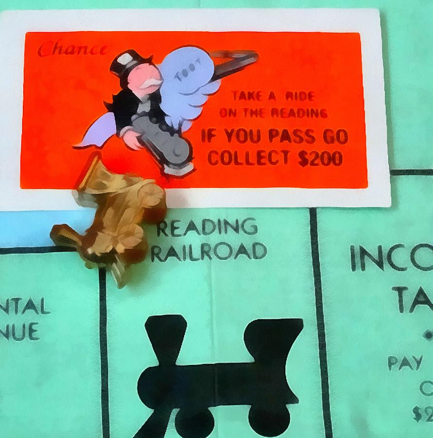 Monopoly Board Game Painting - Monopoly Man by Dan Sproul