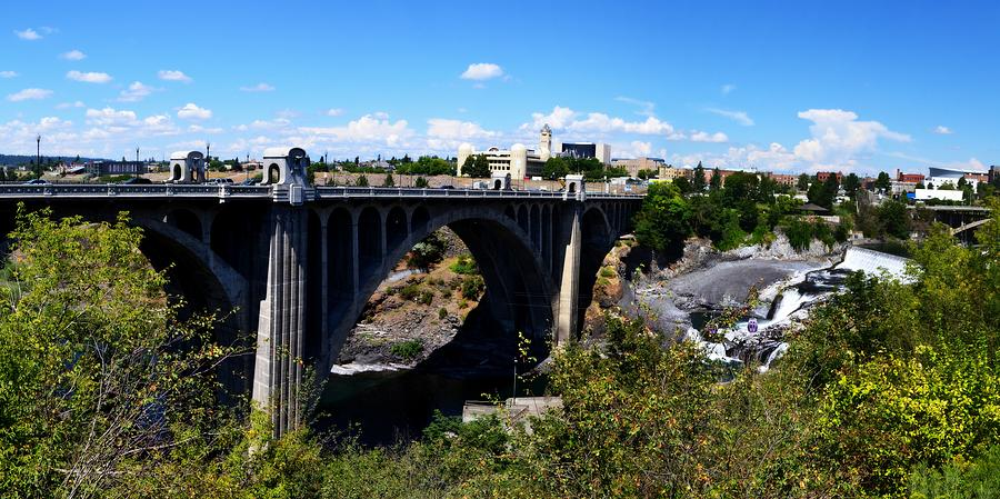 Monroe Street Bridge - Spokane Photograph  - Monroe Street Bridge - Spokane Fine Art Print