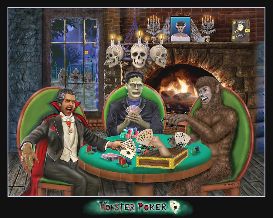Monster Poker Digital Art  - Monster Poker Fine Art Print
