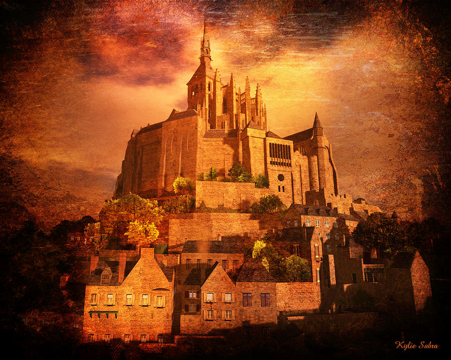 Mont Saint-michel Digital Art - Mont Saint-michel by Kylie Sabra