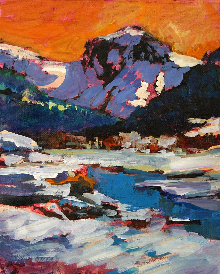 Montana Snow  Plein Air Painting