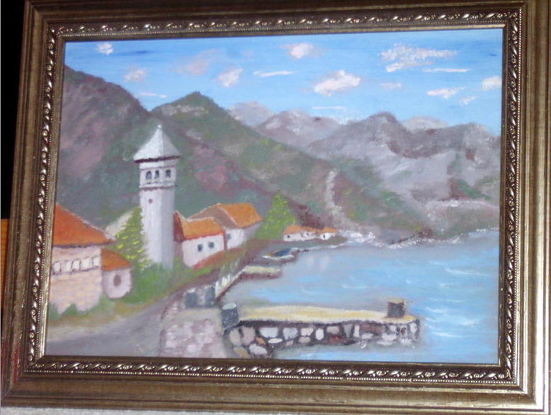 Landscape Painting - Montenegro Bay by Ghee Flores