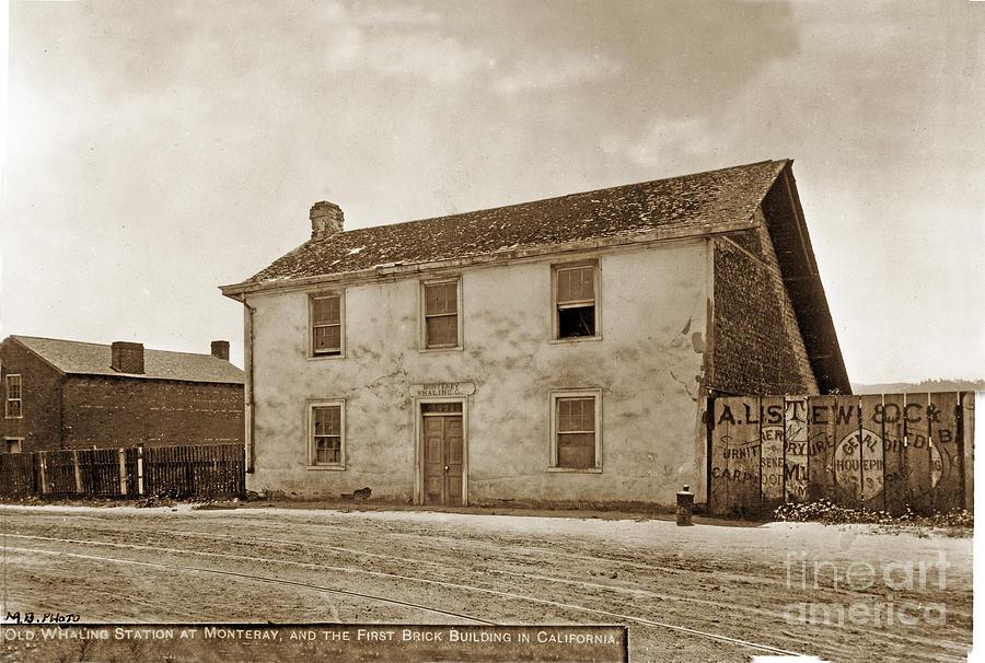 Monterey Whaling Station Circa 1895 Photograph