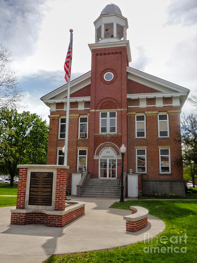 Montezuma Iowa Court House Photograph