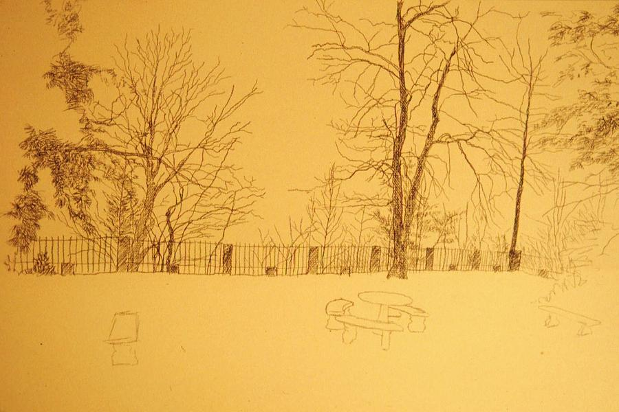 Montlakes Terrace In Winter Drawing