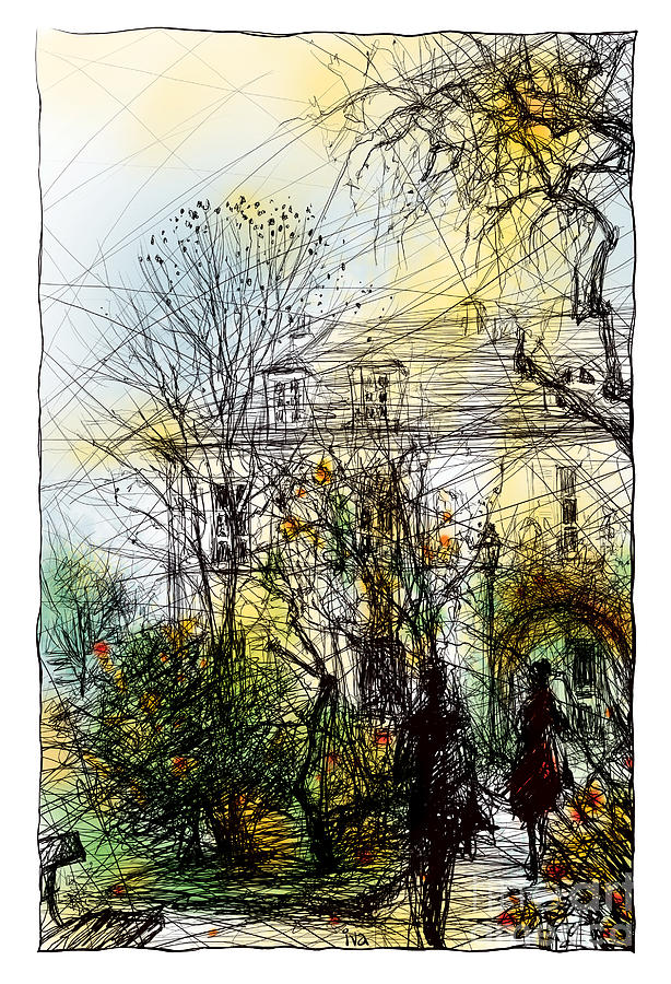 Montmartre 13 In Colour Drawing
