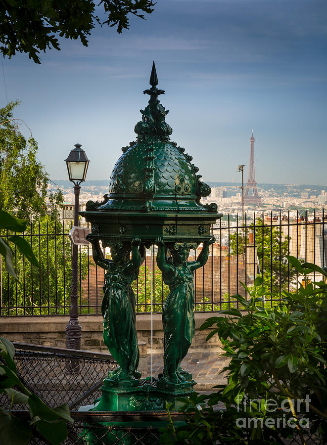 Montmartre Wallace Fountain Photograph  - Montmartre Wallace Fountain Fine Art Print