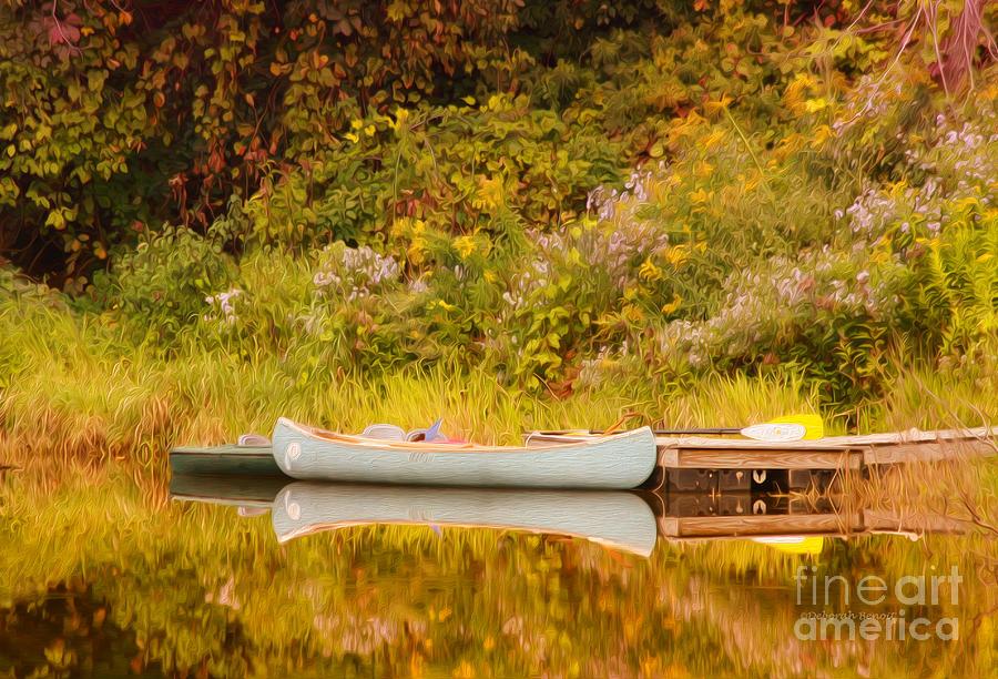 Canoe Photograph - Montpelier Canoe by Deborah Benoit