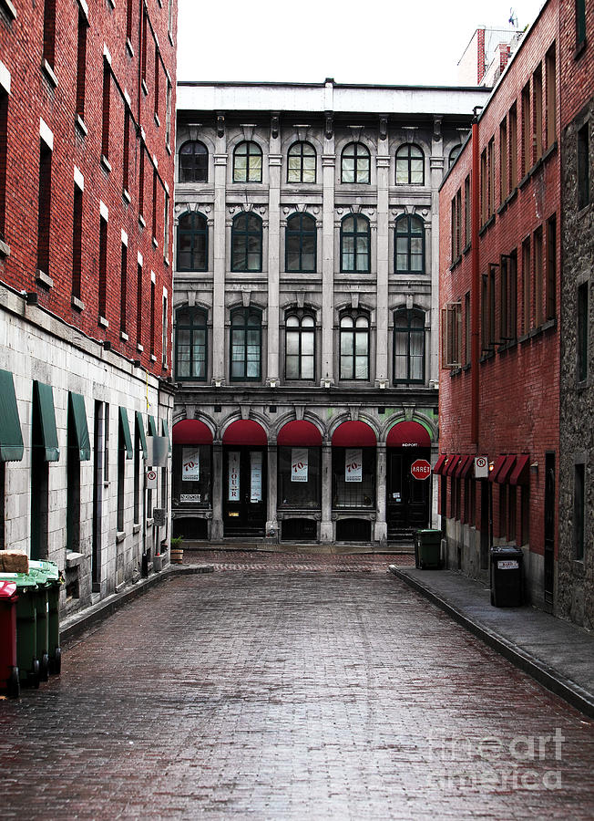 Montreal Alley Photograph  - Montreal Alley Fine Art Print